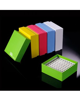 CRIO-CAJA 81 VIALS 2,0/1,5ML, CON TAPA -EN CARTULINA COLOR